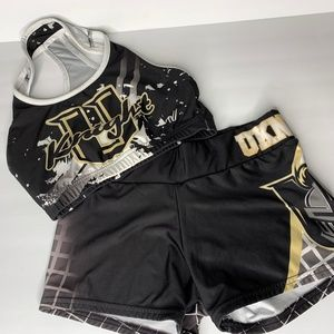 UCF Workout Bra and Shorts